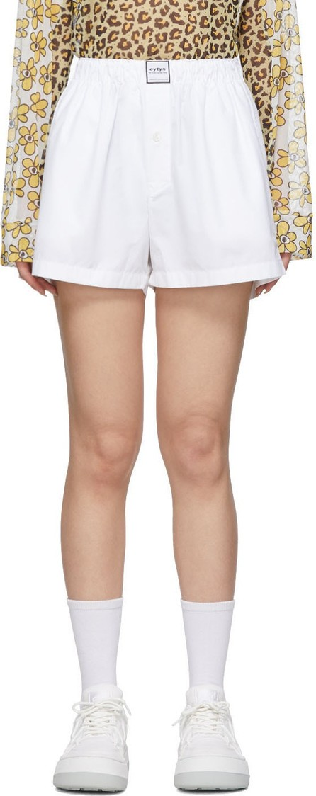 Eytys White Poplin Shorts