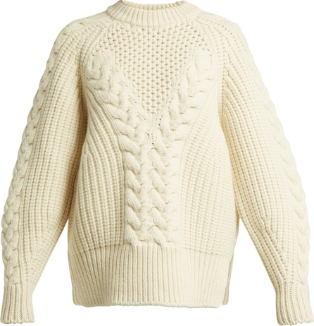 Alexander McQueen Aran-knit wool sweater