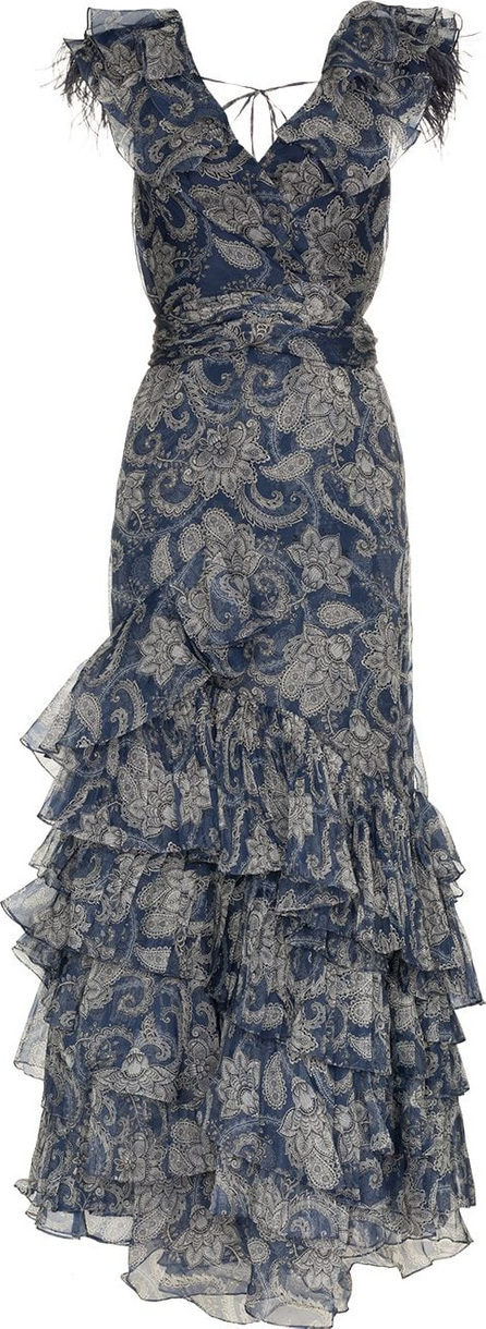 Johanna Ortiz The Sea Nymph ruffle floral paisley print silk dress