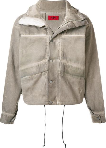 424 Fairfax Buttoned denim jacket