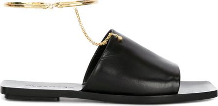 Jil Sander Anklet-embellished slides