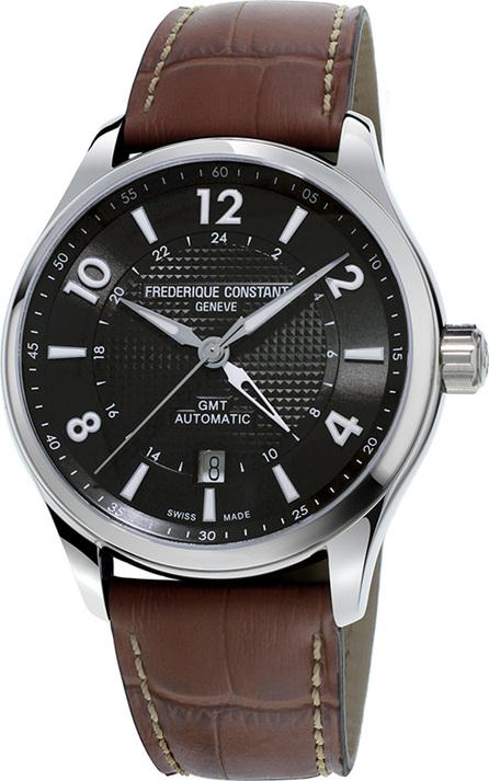 Frederique Constant 42mm Men's Runabout Automatic GMT Watch