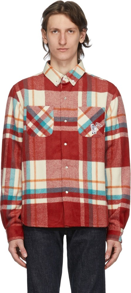 Billionaire Boys Club Red Check Over Shirt