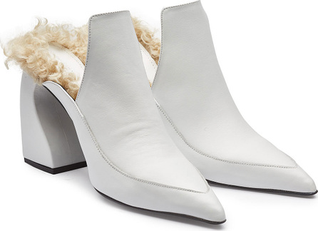 Marques'Almeida Leather Mules with Shearling