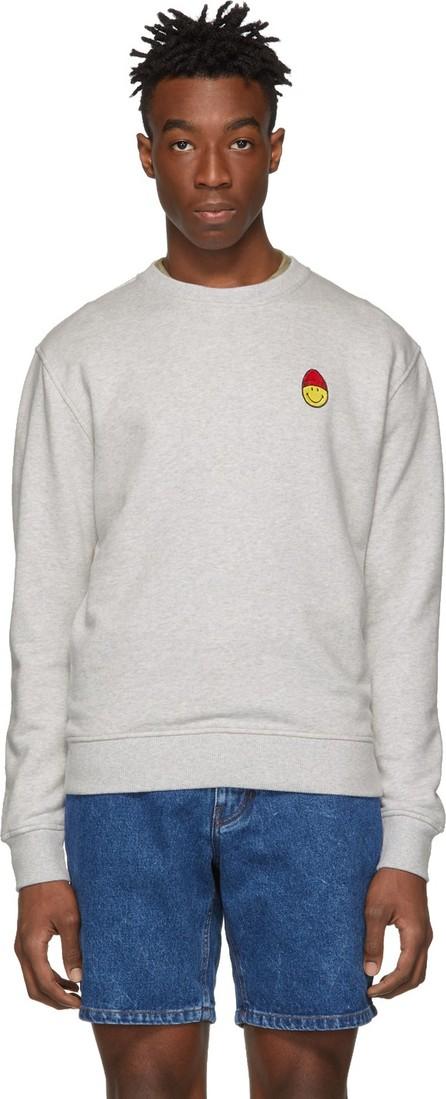 AMI Grey Smiley Edition Patch Sweatshirt