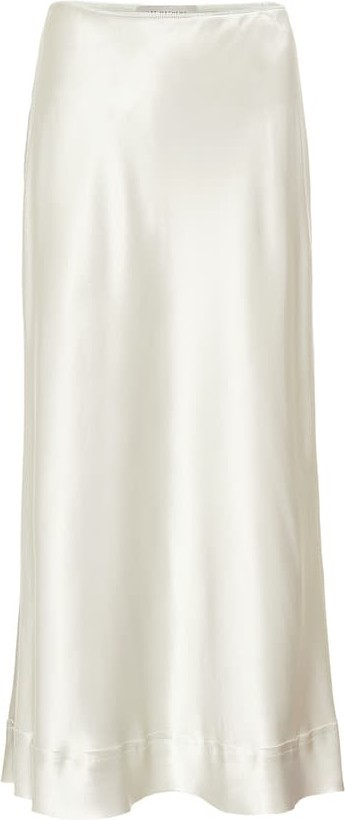 Lee Mathews Stella silk-satin slip skirt