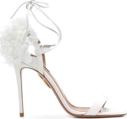 Aquazzura Appliqué heel counter sandals