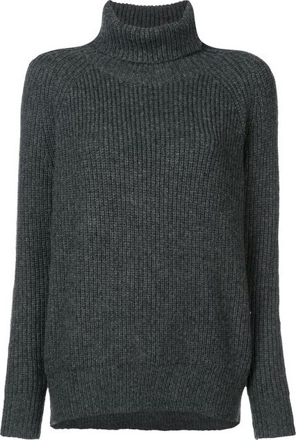 Nili Lotan Grey Turtle Neck Sweater