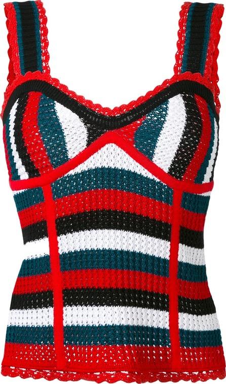 Steve J & Yoni P knit stripe bustier