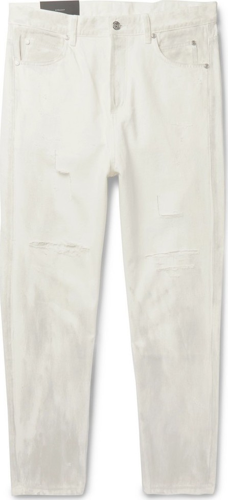 Balmain Distressed Printed Denim Jeans