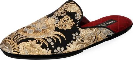 Dolce & Gabbana Men's Da Camera Jacquard Slippers