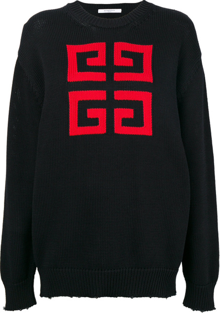 Givenchy Logo patch sweater