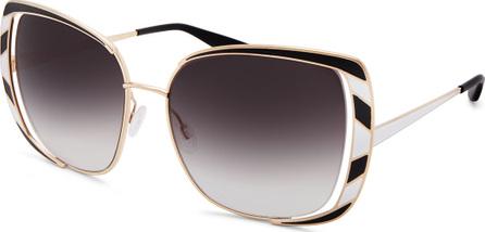 Barton Perreira Arlequin Square Open-Temple Sunglasses