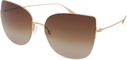 Barton Perreira Voyant Cat-Eye Titanium Sunglasses