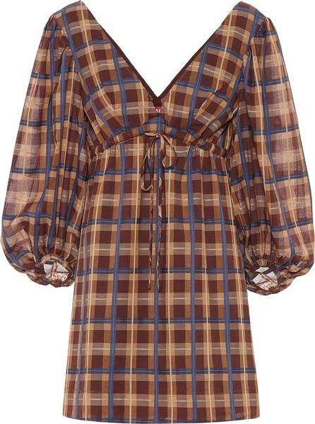 Staud Exclusive to Mytheresa – Keshi checked cotton-blend minidress
