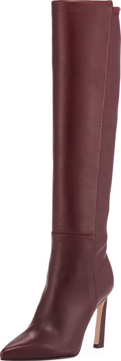 Stuart Weitzman Demi 100mm Leather Knee Boots