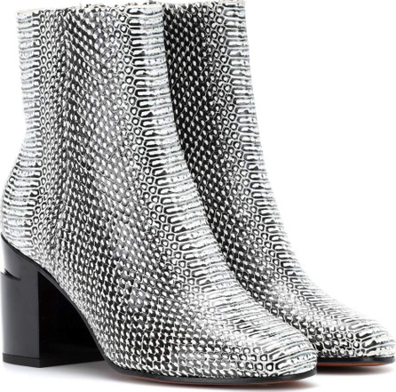 Robert Clergerie Keyla embossed leather ankle boots WOu55rzm
