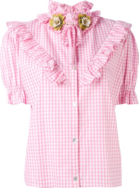 Antonio Marras ruffled checked shortsleeved shirt