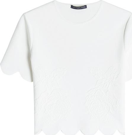 Alexander McQueen T-Shirt with Scalloped Hem