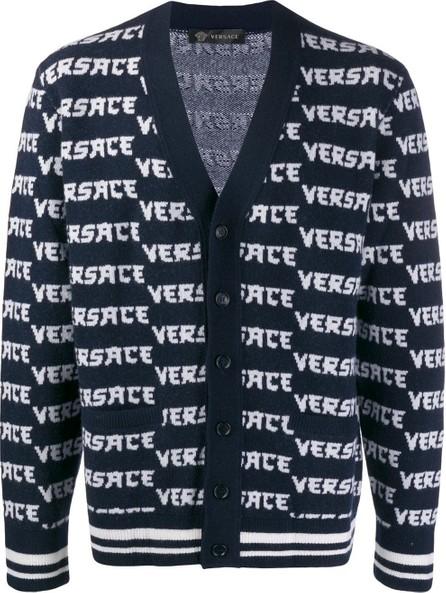 Versace Jacquard logo knitted cardigan