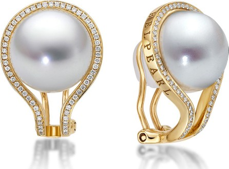 Belpearl Kobe Pearl & Diamond Clip Earrings