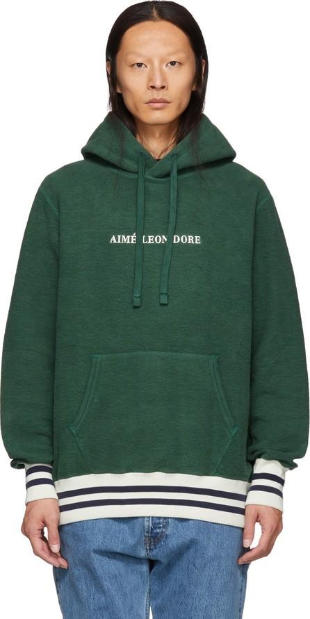 Aimé Leon Dore Green Reverse Fleece Hoodie