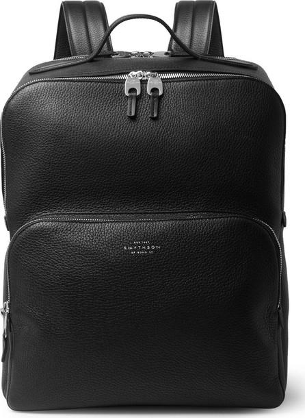 Smythson Burlington Full-Grain Leather Backpack