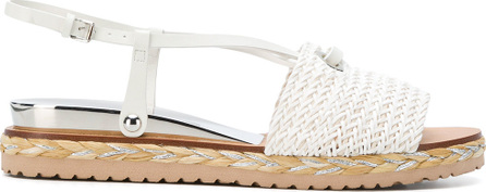Casadei Woven sling back sandals