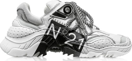 N°21 Billy Limited Edition White/Black Women's Sneakers