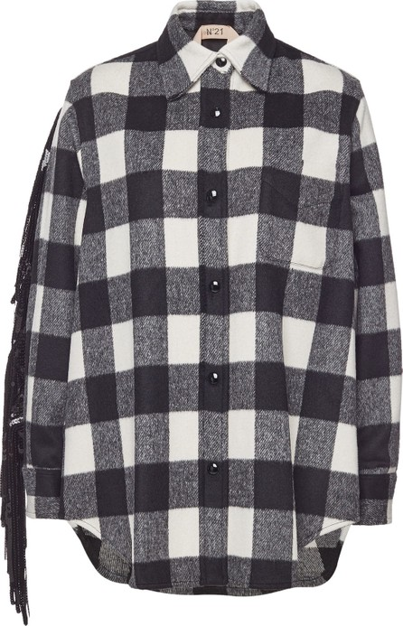 N°21 Flannel Shirt with Sequinned Fringes