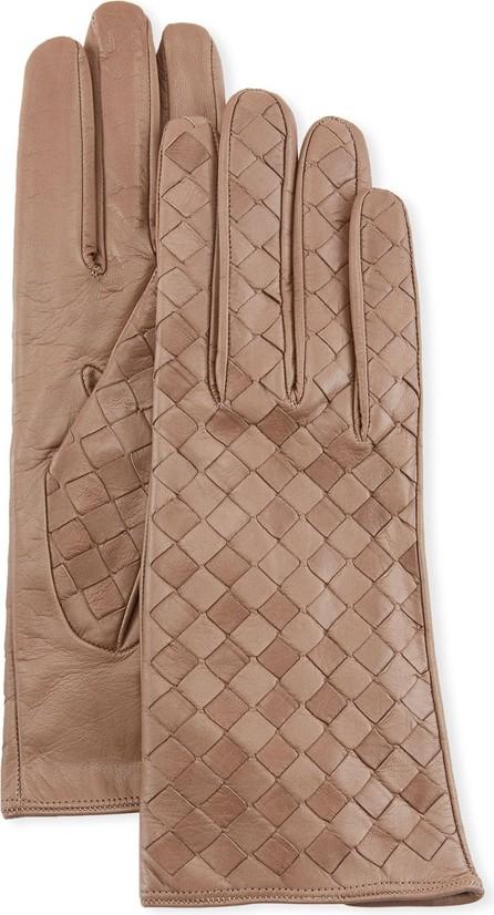 Guanti Giglio Fiorentino Woven Lambskin Leather Gloves