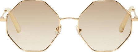 Chloe Gold & Off-White Hexagon Sunglasses