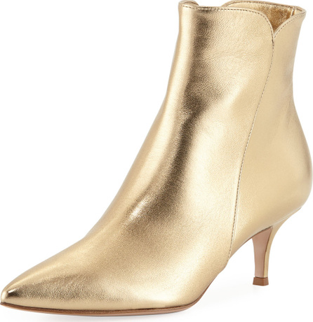 Gianvito Rossi Metallic Pointed-Toe Bootie
