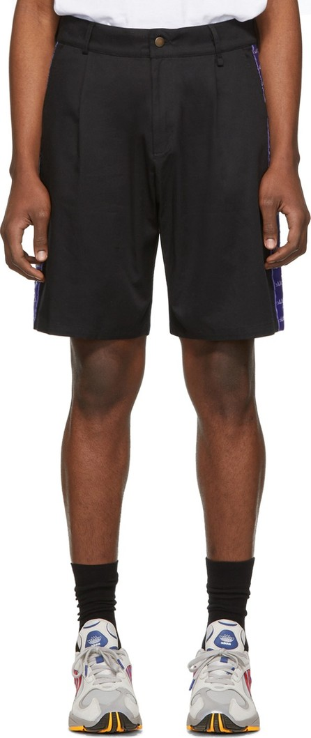 Anton Belinskiy SSENSE Exclusive Black Logo Tape Shorts