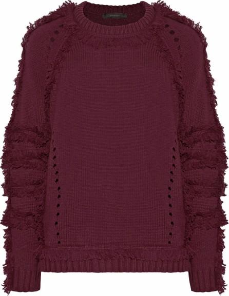 Belstaff Karli fringed wool, silk and cashmere-blend sweater