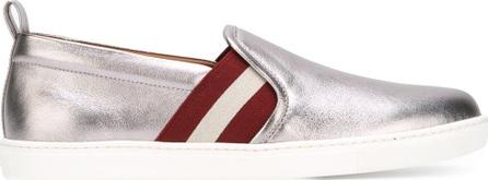 Bally stripe detail metallic sneakers