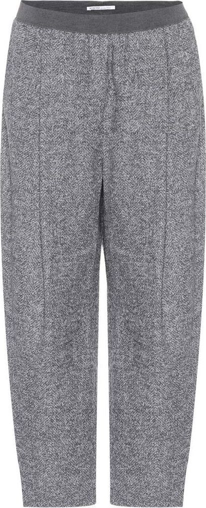 Agnona Cropped alpaca-blend trousers