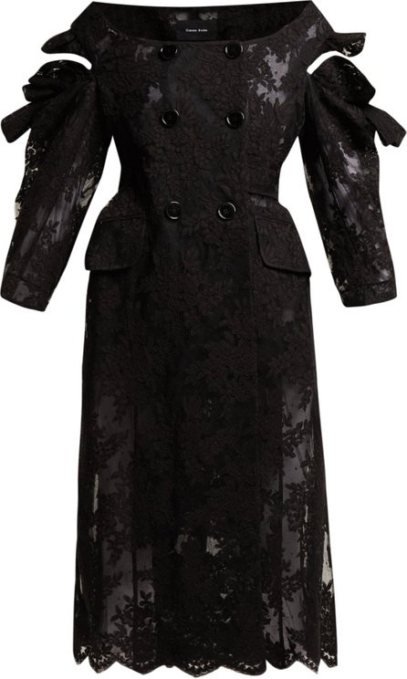 Simone Rocha Double-breasted corded-lace coat