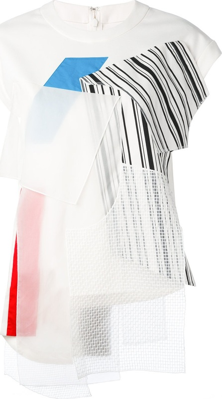 Enfold multi patched T-shirt