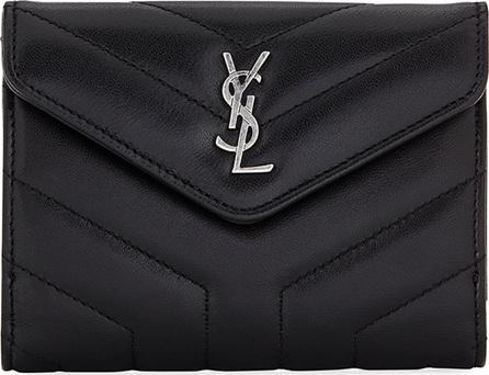 Saint Laurent Loulou Small V-Flap Wallet