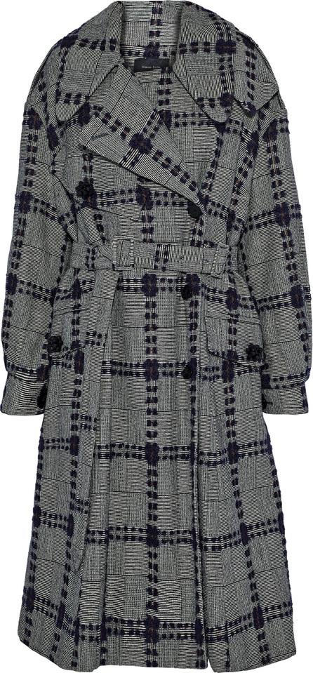 Simone Rocha Embellished bouclé-tweed wool-blend coat
