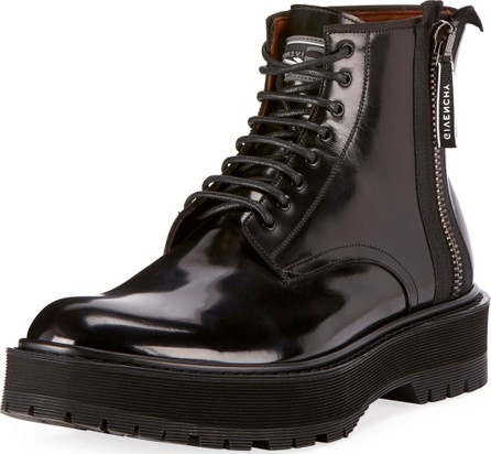Givenchy Men's Camden Patent Leather Utility Boots