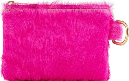 Allison Mitchell Neon Small Fur Wallet Pouch Bag