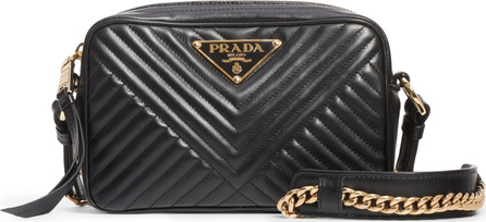 Prada Small Quilted Leather Camera Bag