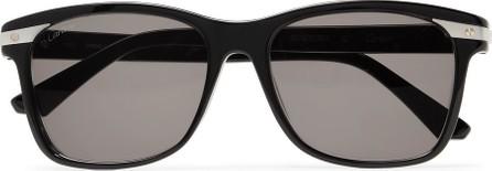 Cartier Santos De Cartier Square-Frame Acetate and Silver-Tone Sunglasses