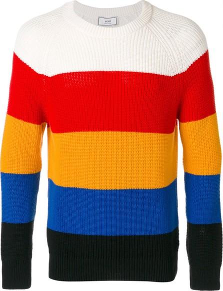 AMI multicolour striped crewneck sweater