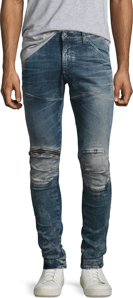 G-STAR RAW 5620 Elwood 3D Super-Slim Zip Jeans, Gavi (Blue)