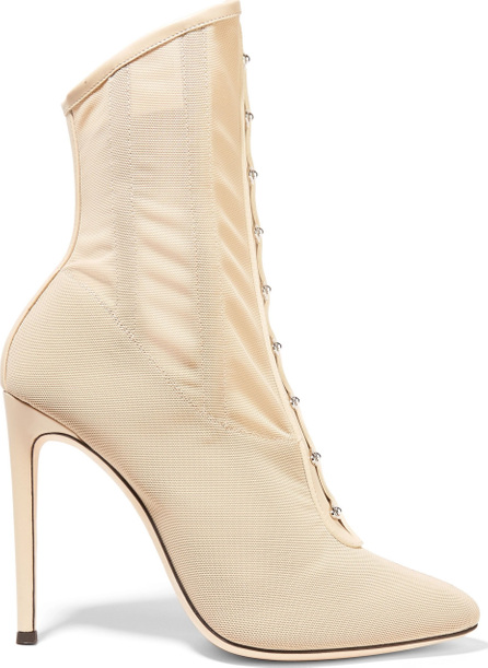 Giuseppe Zanotti Janice leather-trimmed mesh ankle boots