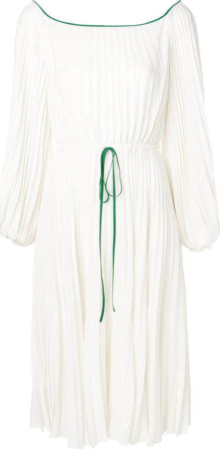 Valentino Pleated off-the-shoulder dress