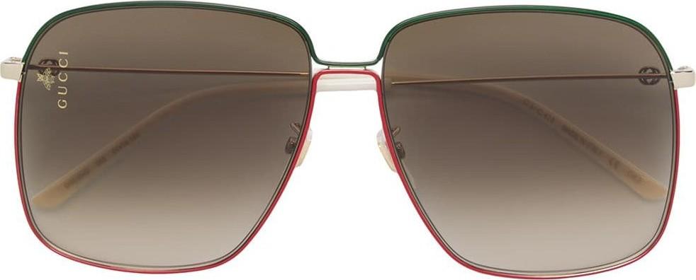a944ca130e3bb ... Glitter Square Optyl Sunglasses 3836 F S Black Silver 206057 Source · Gucci  Large square sunglasses Mkt